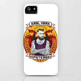 Karl Marx Hipster iPhone Case