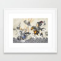 knight Framed Art Prints featuring Knight by JoeyDrawing