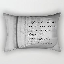 Jane Austen Book Rectangular Pillow