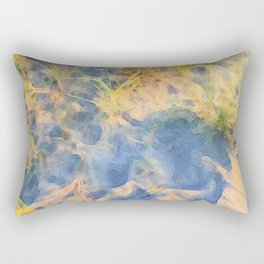 Beach Grass Paintings Rectangular Pillow