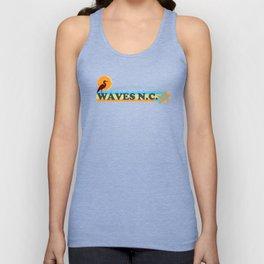 Waves - North Carolina. Unisex Tank Top
