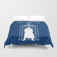 dr who Duvet Covers featuring Dr Who - Strokes by Chimaera Designs