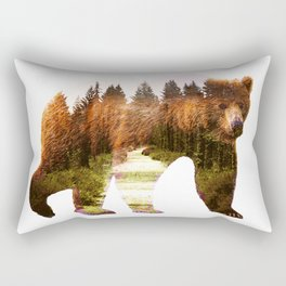 in the forest Rectangular Pillow