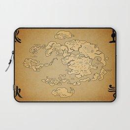 Avatar Last Airbender Map Laptop Sleeve