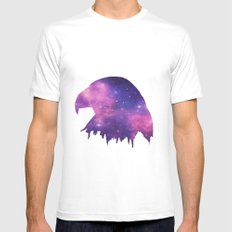 SPACE EAGLE MEDIUM White Mens Fitted Tee
