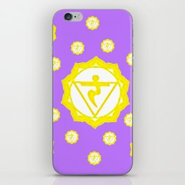 "ASTRAL VIOLET YELLOW SANSKRIT CHAKRAS  PSYCHIC WHEEL ""STRIVE"" iPhone Skin"