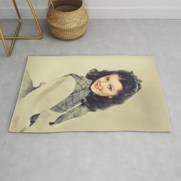 Ann Rutherford, Vintage Actress Rug