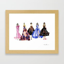 Designer Girls Framed Art Print