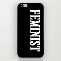 feminist iPhone & iPod Skins featuring Feminist by Retro Designs