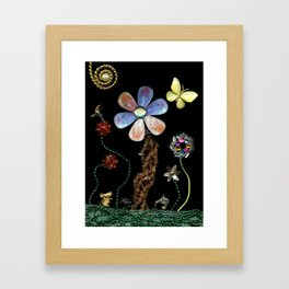 Happy Day in the Garden, Jewelry Scanography Framed Art Print