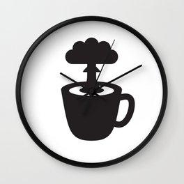 Atomic Coffee Wall Clock