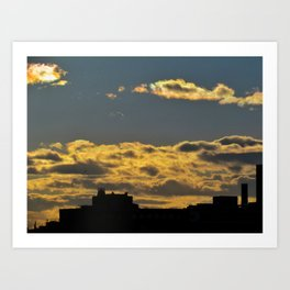 March Sunset in Portland, Maine (3) Art Print