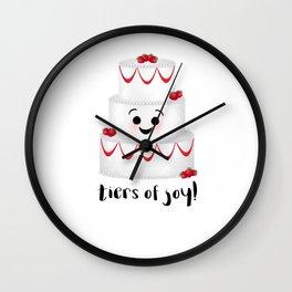 Tiers Of Joy! Wedding Cake Wall Clock