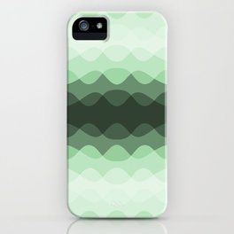 Pastel Mint Green Overlapping Wavy Line Pattern Pairs to Coloro 2020 Color of the Year Neo Mint iPhone Case
