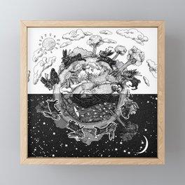 '龜兔再賽跑 The Tortoise and the Hare: Rematch' Illustration 4 Framed Mini Art Print