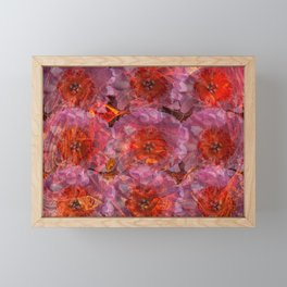Fire Peonies Framed Mini Art Print