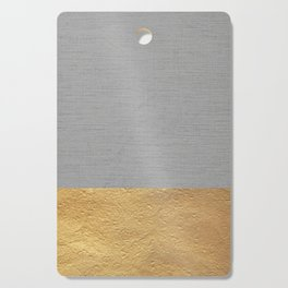 Color Blocked Gold & Grey Cutting Board