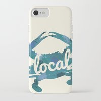 maryland iPhone & iPod Cases featuring Maryland Blue Crab Local by O'Postrophy