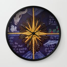 The Four Lights of Winter Wall Clock