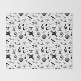 Symbols of Science Throw Blanket