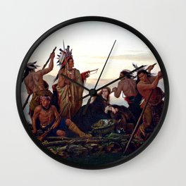 The Abduction of Boone's Daughter by the Indians Wall Clock