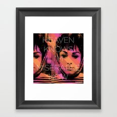 Heaven Knows I better Get Them Cha-Cha Heels Framed Art Print