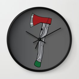 The Brave Little Axe Wall Clock