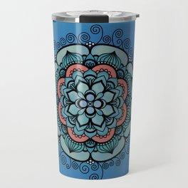 Colorful Floral Design Travel Mug
