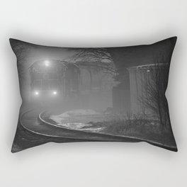 Train In The Fog Rectangular Pillow