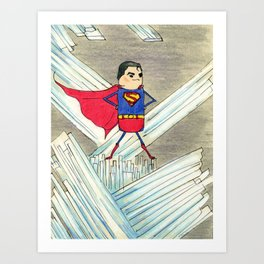 """Members"" of the Justice League: Superman Art Print"