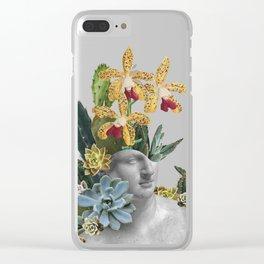 Cactus Statue Clear iPhone Case