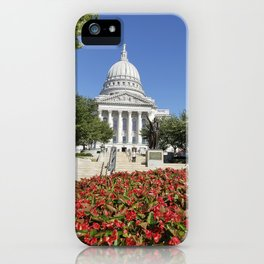 Capitol Building Madison Wisconsin from State Street iPhone Case