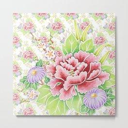 Kimono Summer Bouquet Metal Print