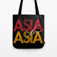 asia Tote Bags featuring Asia for Asia by Park is Park