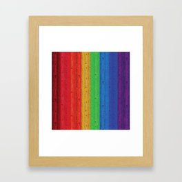 Colours Of The Rainbow Framed Art Print