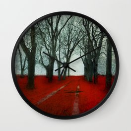 The Crimson Forest Wall Clock