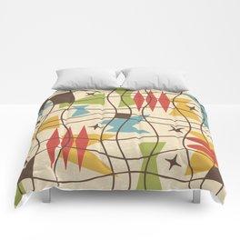 Mid Century Modern Abstract Pattern 571 Comforters