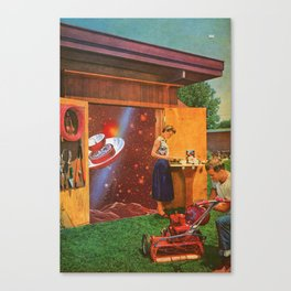 The continued study of Suburban Humanoids [or] the Cosmic Toolshed Canvas Print