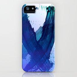 Atmospheric Blue Wings iPhone Case