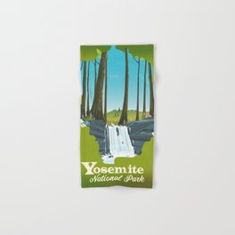 Yosemite National park waterfall. Hand & Bath Towel