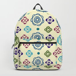 Retro Whimsical Floral Pattern Backpack
