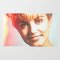 "laura palmer Area & Throw Rugs featuring Twin Peaks ""Laura Palmer"" by Spyck"