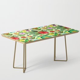 Birds and Nature Floral Exotic Seamless Pattern Coffee Table