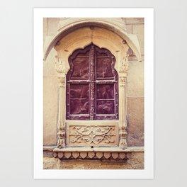 Haveli Window Jaisalmer Rajasthan Art Print