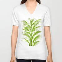 lime V-neck T-shirts featuring Lime Palms by Cat Coquillette