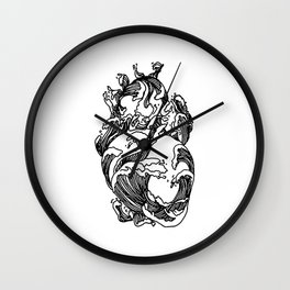 Heart of The Ocean Waves Wall Clock