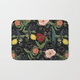 Botanical and Black Cats Bath Mat