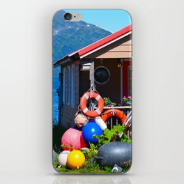 Boat Floats Display - Whittier, Alaska iPhone Skin