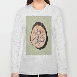 Devil Ray Wood Slice Long Sleeve T-shirt
