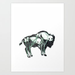 Bison Animus Art Print